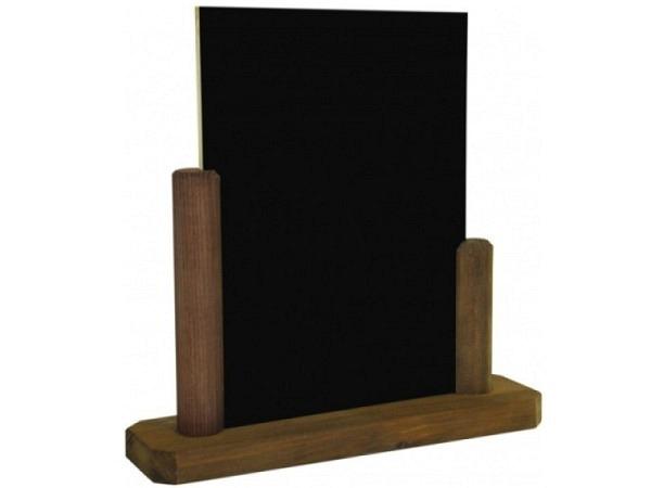 Schiefertafel Tischständer 15x21cm Hochformat, Holzfuss