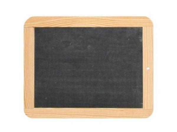 Schiefertafel 10x14cm mit Holzrand, echter Schiefer