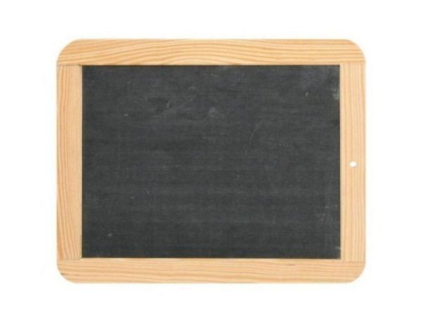 Schiefertafel 13x18cm mit Holzrahmen, echter Schiefer