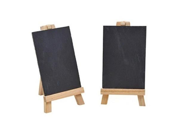 Schiefertafel Messageboard Holztafel 12x15cm