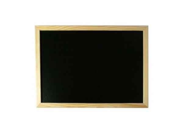 Schiefertafel 30x40cm mit Holzrahmen, Kunstschiefer
