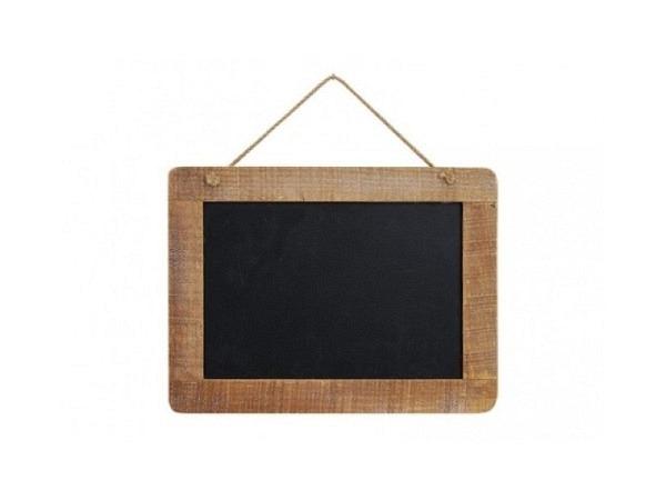 Schiefertafel Mini Message Board aus Holz mit Klammer, 7x5cm