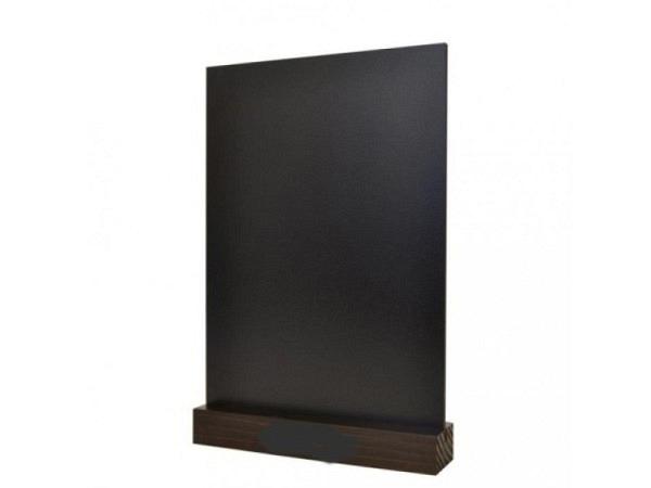 Schiefertafel Tischständer 18x10cm Hochformat mit Holzfuss