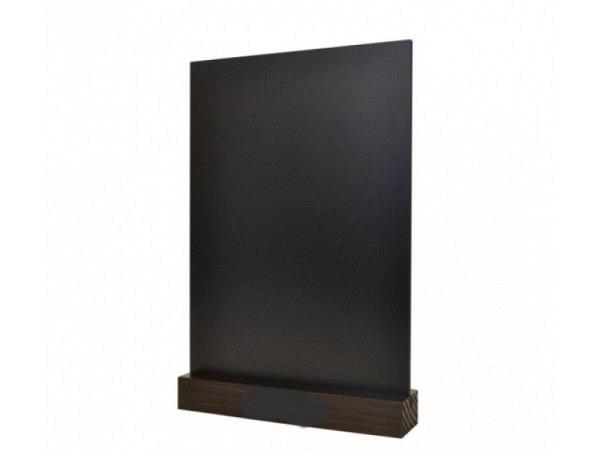 Schiefertafel Tischständer 33x21cm Hochformat mit Holzfuss
