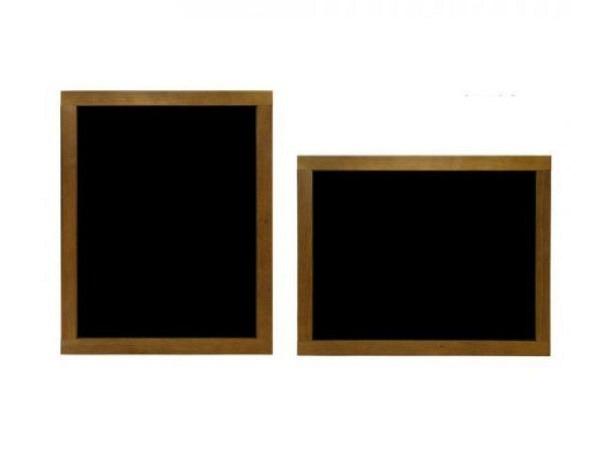 Schiefertafel 60x47cm mit Holzrahmen, Aufhängevorrichtung