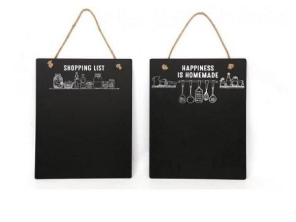 Schiefertafel Memo-Board 40x50cm schwarz.