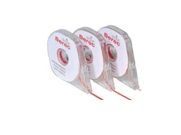Aufteilungsband Berec 2,5mmx16m rot MB27.02