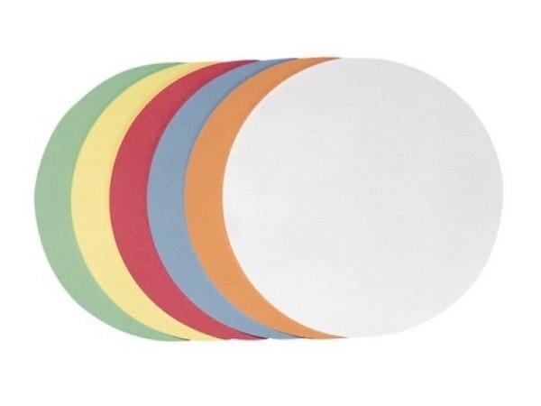 Moderationskarten Berec selbstklebend Kreis 18,5cm farbig sortiert