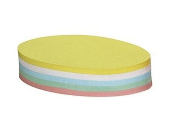 Moderationskarten Berec selbstklebend oval 10,5x18,5cm farbig sortiert,