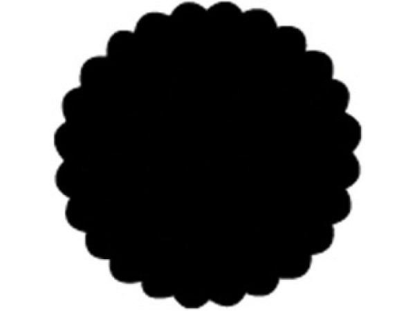 Locher Stanzer 38mm Kreis mit Wellenrand, rundlich, für Papier bis 220g/qm, weisses Gehäuse