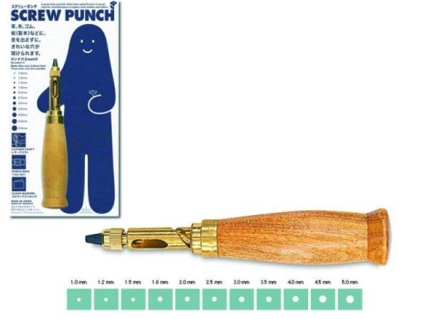 Locher Screw Punch 1Loch Bohrer 3mm Durchmesser