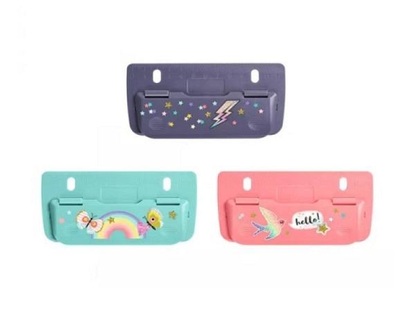 Locher Büroline grau Metall mit Anschlagschine