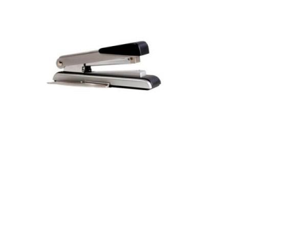 Heftapparat Bostitch B8 chrom Flat Clinch für bis  zu 40 Prozent Platzersparnis, mit integriertem Klammerentferner, heftet bis 30 Blatt, inkl. 200 Klammern, Heftklammern SB8