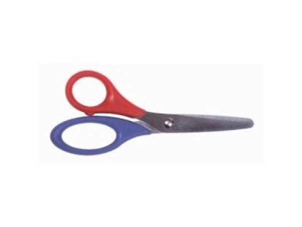 Schere Lerche Schnippy 13cm für Linkshänder, rot-blau