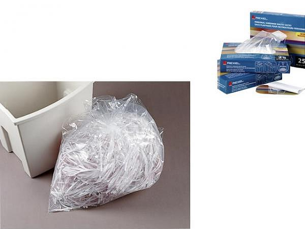 Aktenvernichter Abfallsäcke Rexel transparent 75Liter