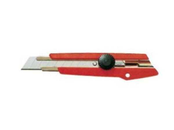 Messer NT L-500 breit Kunststoff rot mit Dreh-Arretierung
