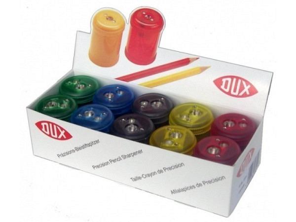 Spitzer Dux mit Behälter 2Loch farbig transp., rund