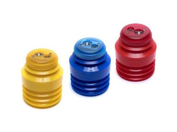 Spitzer Dux knautsch rund 2Loch m.Behälter maxi farbig