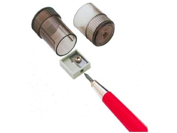 Spitzer Dux für Fixpencil-Minen 2mm transparent-schwarz rund
