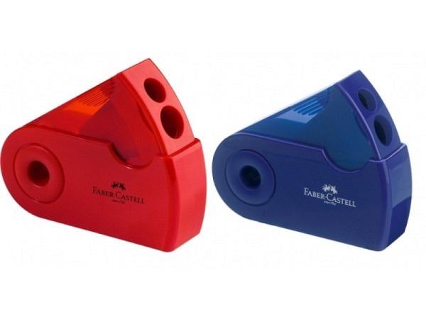 Spitzer Faber-Castell blau oder rot, Doppelspitz ergonomisch
