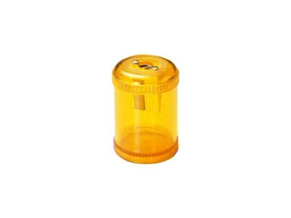 Spitzer Dux mit Behälter rund transparent farbig, 5307