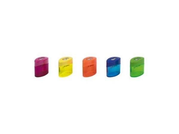 Spitzer Büroline mit Behälter rund transp. farbig