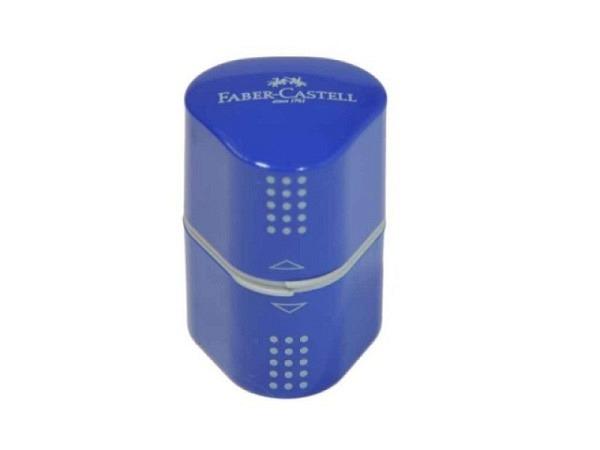 Spitzer Faber-Castell Grip 2001 blau/rot Dreifachspitzdose
