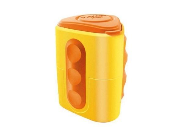 Spitzer Lyra farbig assortierter Kunststoffbehälter aus Kunststoff mit Staubverschluss