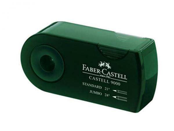 Spitzer Faber-Castell 9000 grün, Zweifachspitzdose