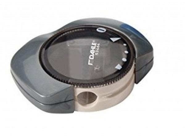 Spitzer Dahle 53464 grau Kunststoffspitzer transp. Deckel