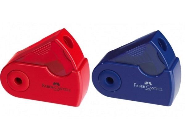 Spitzer Faber-Castell Einfachspitzdose klein blau oder rot