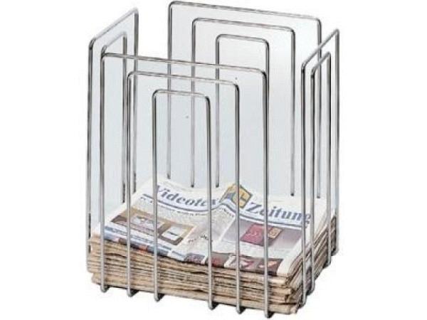 Zeitungssammler chrom oben flach. C4-Format