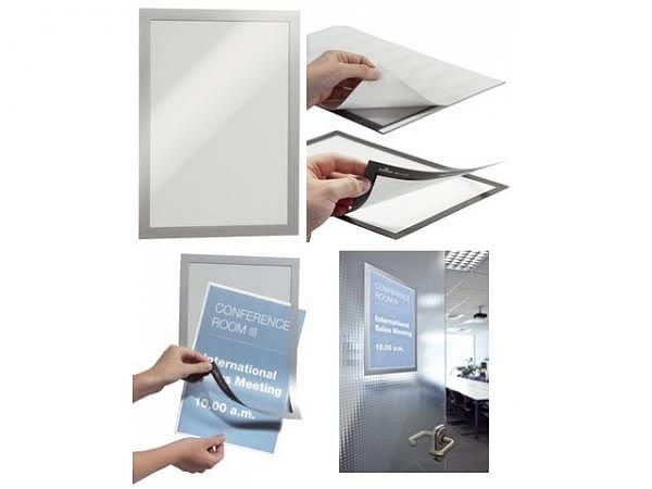 Sichttafel Durable Duraframe A4 silber, selbstklebend