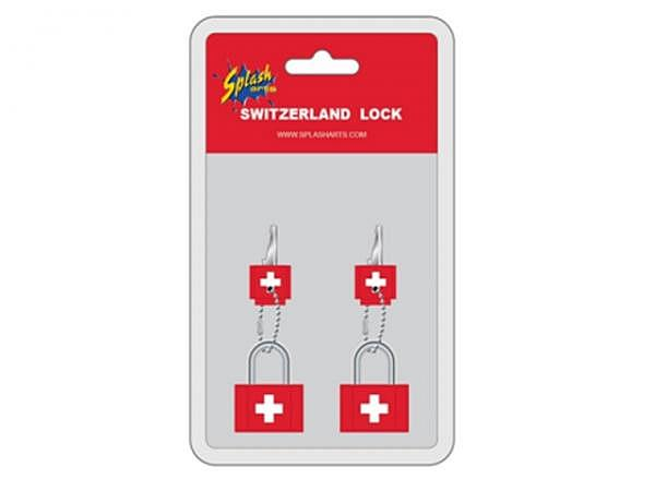 Schloss Switzerland rot 2er Set, rot lackiert