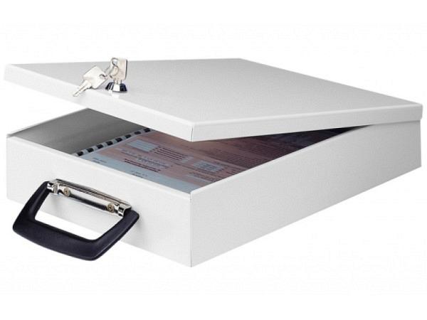 Dokumentenkassette Wedo A4 grau mit Koffergriff