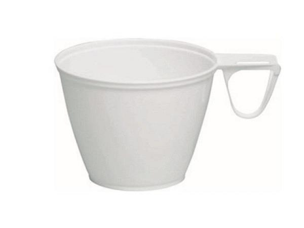 Kaffeebecher 1,6dl weiss aus PS, Packung zu 50Stk