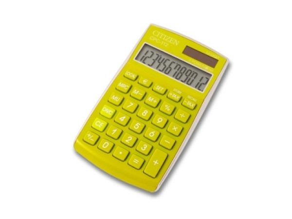 Taschenrechner Citizen CPC-112 lime-grün 12stelliges Display