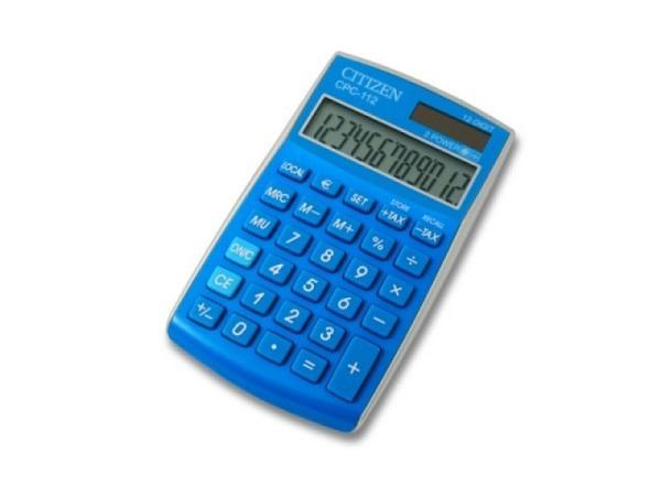 Taschenrechner Citizen CPC-112 blau, 12stelliges Display