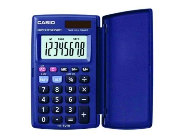 Taschenrechner Casio SL-210TE mit Deckel, Solar/Batterie