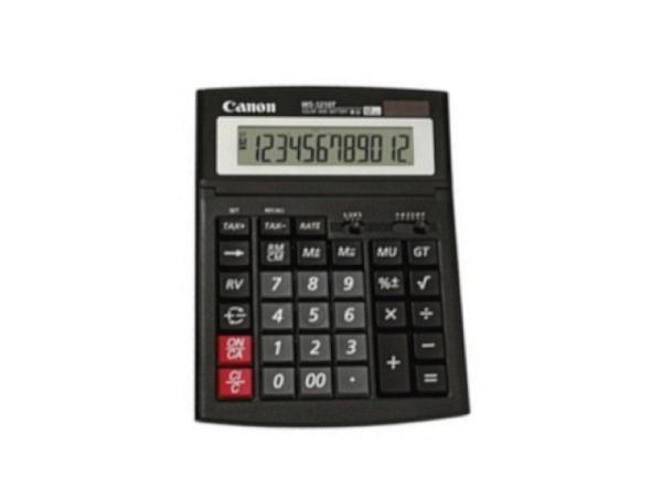 Taschenrechner Canon WS-1210T schwarz 12st. grosse Tasten
