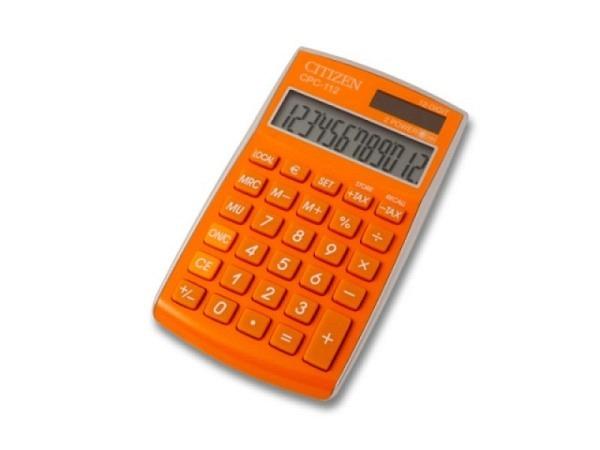 Taschenrechner Citizen CPC-112 orange, 12stelliges Display