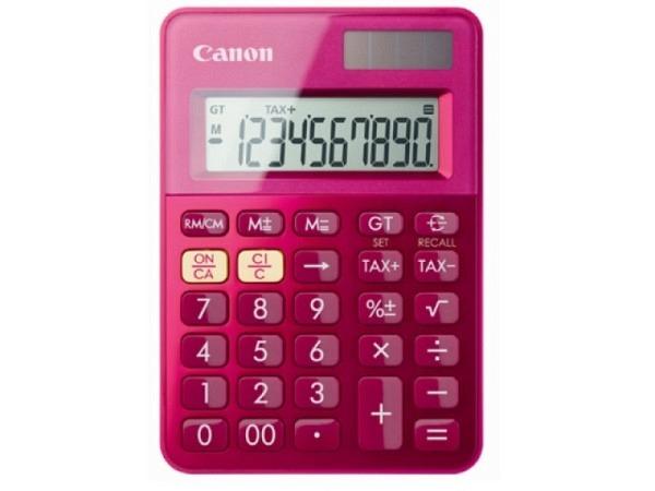 Taschenrechner Canon LS-100K pink 10-stelligem Display