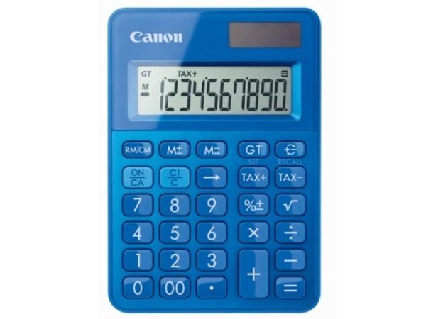 Taschenrechner Canon LS-100K blau10-stelligem Display