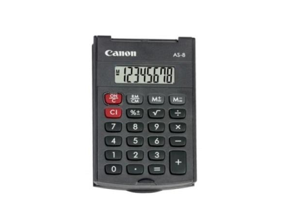 Taschenrechner Canon AS-8 schwarz, kleine Ausführung
