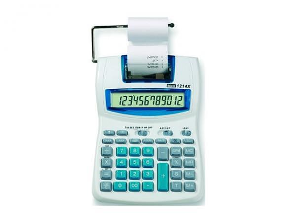Tischrechner Ibico 1214X Prozentfunktion, Rundungsautomatik