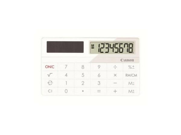 Taschenrechner Canon X-Mark I weiss, Kreditkartenformat