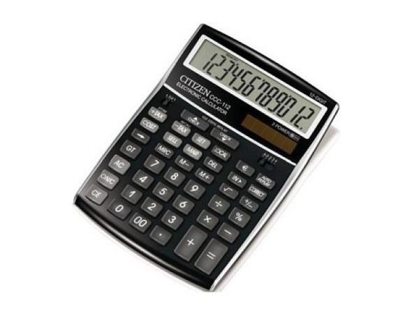 Taschenrechner Citizen CCC-112 schwarz-silber 15x21cm
