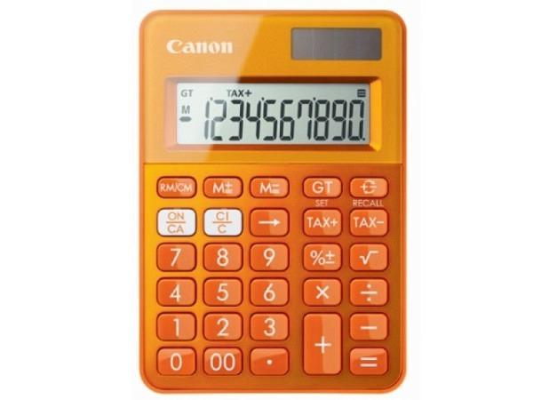 Taschenrechner Canon LS-100K orange, 10-stelligem Display