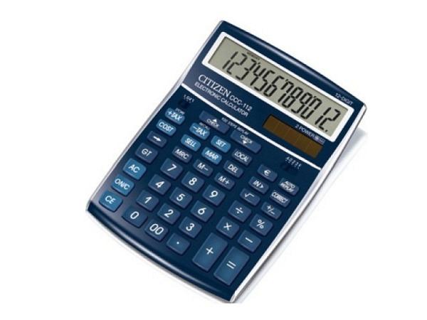 Taschenrechner Citizen CDC-80BL blau Solar und Batterie