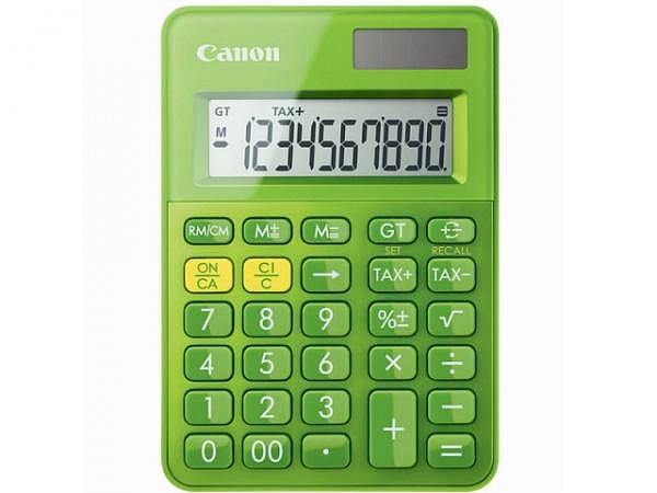 Taschenrechner Canon LS-100K grün, 10-stelligem Display